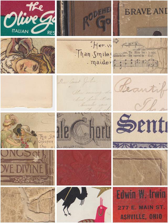 复古书纹理(纹理)<br /> http://www.pixelpixelpixel.com/2012/02/vintage-book-textures/