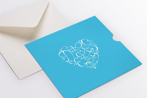 blue white typography basic wedding invitations