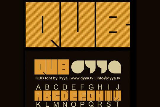 QUB font<br /> http://www.behance.net/gallery/QUB-font/487834Broken Records (Font)