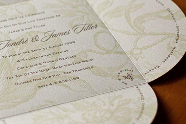 rounded invitation pattern print work