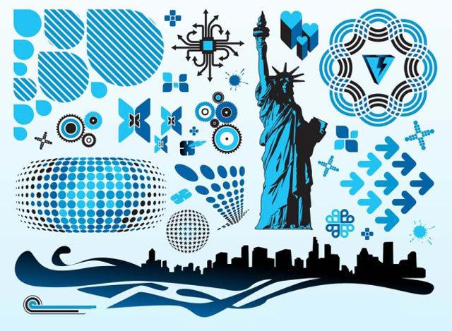 Blue Vector Pack<br /> http://coolvectors.com/free-vector/blue-vector-pack.html