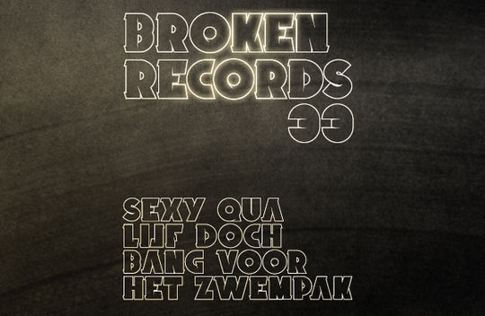 Broken Records (Font)<br /> http://www.behance.net/gallery/Broken-Records-(Font)/1044195