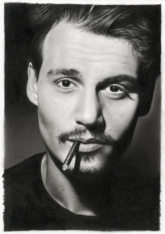 By hrm-n<br /> http://hrm-n.deviantart.com/art/Johnny-Depp-192516619