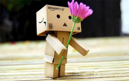Danbo与花<br /> 可下载的1280×800,1440×900像素<br /> http://www.wallpaperhere.com/Danbo_with_Flower_79531