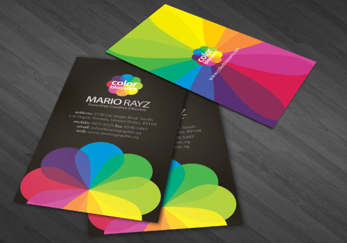 COLOR-BLOSSOM<br /> http://dribbble.com/shots/226591-Color-Blossom-Business-Card/attachments/5704