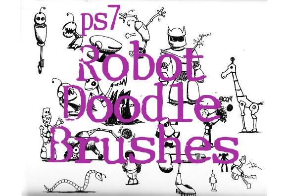 机器人涂鸦画笔<br /> http://sevynstarr.deviantart.com/art/Robot-Doodle-Brushes-134712555