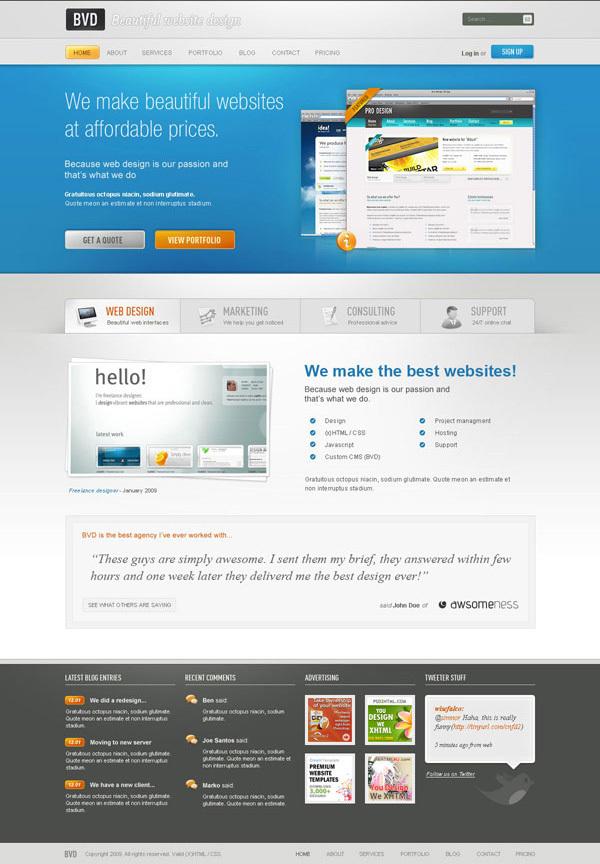 从草图到效果图,高完成度网页效果图绘制教程 http://net.tutsplus.com/tutorials/html-css-techniques/design-a-beautiful-website-from-scratch/