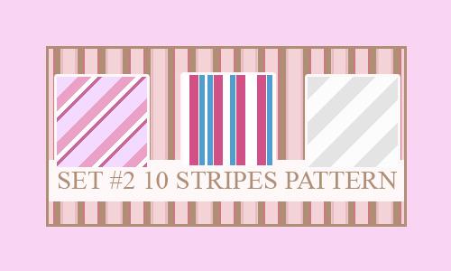 条纹图案(10种模式)<br /> http://xvanillasky.deviantart.com/art/Stripes-Pattern-70891516