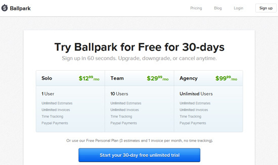 BallPark<br /> http://www.getballpark.com/pricing.html