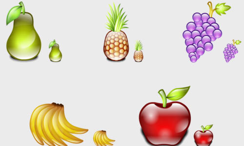 美味的水果图标<br /> 一组水果的Icon<br /> http://iconshock.deviantart.com/art/Delicious-Fruits-Icons-120019247