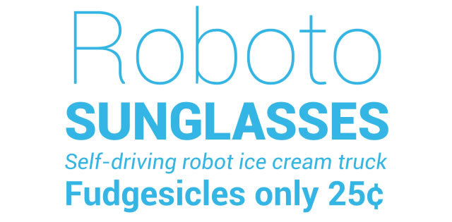Android 4.0 Font – Roboto<br /> http://developer.android.com/design/style/typography.html#actionbar