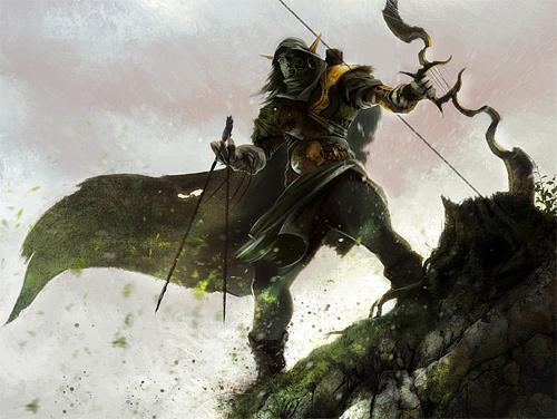 小精灵的弓箭手<br /> http://rez-art.deviantart.com/art/Elvish-archer-276456150