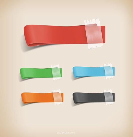 4 Free PSD Ribbon
