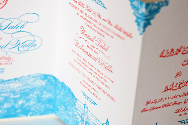 wedding florence invitation italy printwork