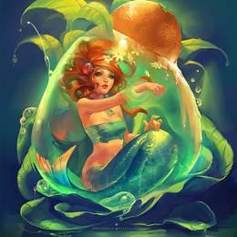 主题插画 性感的美人鱼