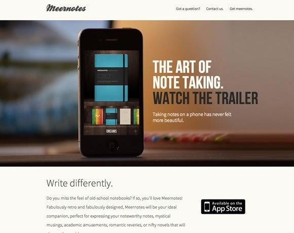 Meernotes<br /> 惊人的复古设计,Meernotes将是你理想的笔记伴侣。<br /> http://www.meernotes.com/