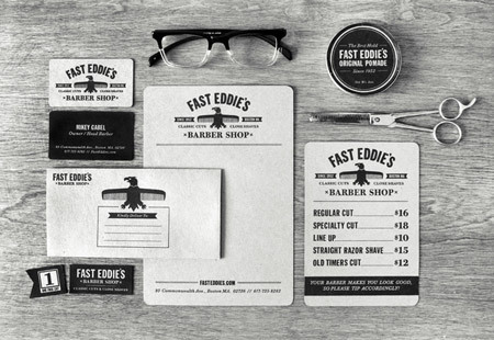 Fast Eddie's Barber Shop by Richie Stewart<br /> http://www.behance.net/gallery/Fast-Eddies-Barber-Shop/1056613