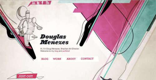 35个精美的带插画的网页设计
