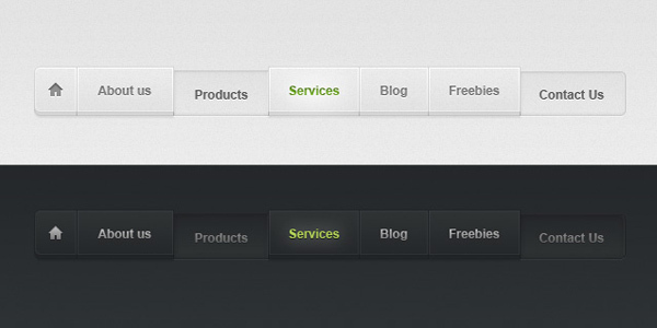 Light and Dark Psd Web Menu<br /> http://www.pixeden.com/psd-web-elements/light-and-dark-psd-web-menu#