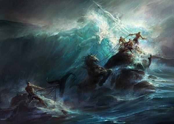 Poseidon's Wrath<br /> http://www.imaginefx.com/02287754330481049105/painting-poseidon-s-wrath.html