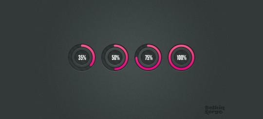 圆形预加载条<br /> http://designmoo.com/6393/circular-preloaders/