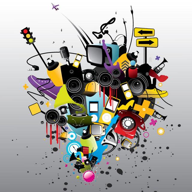Playful Music Vector Art Elements<br /> http://www.freevectorlibrary.com/vector/playful_music_vector_art_elements