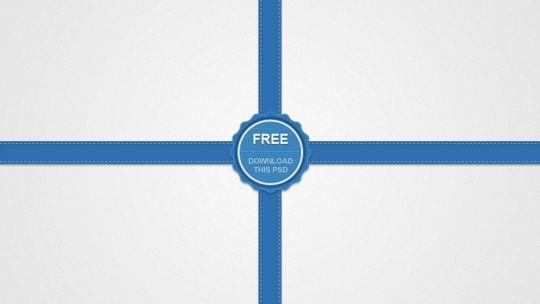 时尚丝带和徽章<br /> http://pixelsdaily.com/resources/photoshop/psds/stylish-ribbon-and-badge/