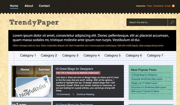 """""""黄皮书""""的网站布局 http://psdvibe.com/2009/05/15/how-to-create-a-%E2%80%9Cworn-paper%E2%80%9D-web-layout/"""