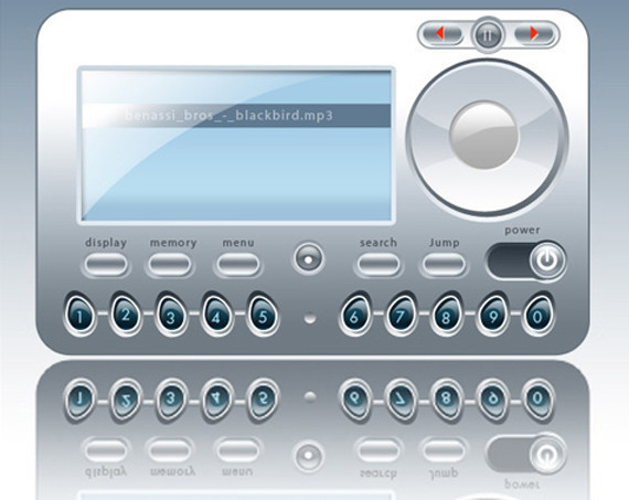MP3播放器Photoshop教程<br /> http://www.adobetutorialz.com/articles/2889/1/MP3-Player-Interface