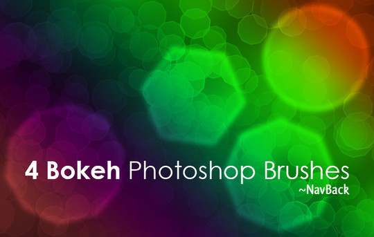 4个散景的Photoshop笔刷<br /> http://navback.deviantart.com/art/4-Bokeh-Photoshop-Brushes-136682189