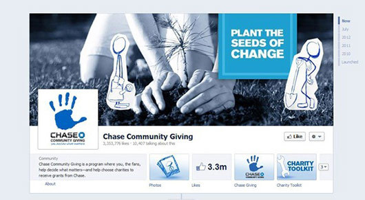 Chase Community Giving<br /> https://www.facebook.com/ChaseCommunityGiving
