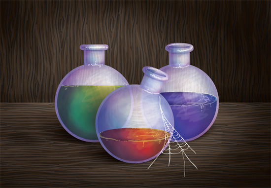 创建一个幻想风格的药水插图<br /> http://vector.tutsplus.com/tutorials/illustration/create-a-fantasy-style-potion-illustration-with-gradients-and-the-bristle-brush/<br />