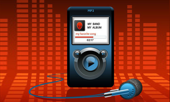 MP3播放器图标<br /> http://www.adobetutorialz.com/articles/2887/1/MP3-Player-Illustration