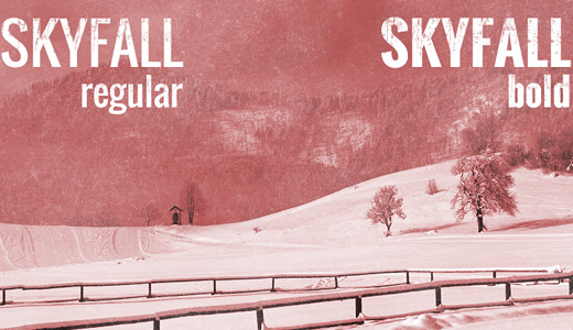 Skyfall<br /> http://www.dafont.com/skyfall.font