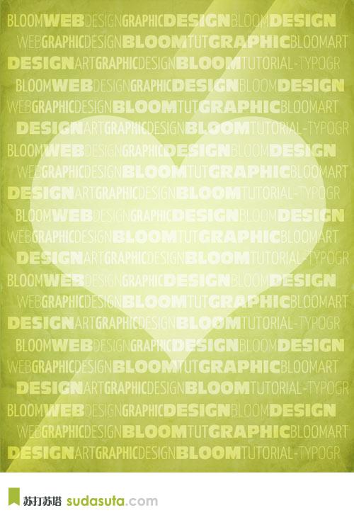 在Photoshop中设计一个纹理排版海报 http://bloomwebdesign.net/myblog/design-a-textured-typography-poster-in-photoshop/
