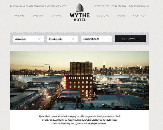 Wythe Hotel<br /> http://wythehotel.com/