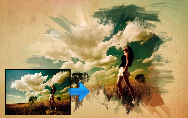 在Photoshop中绘制迷人的水彩效果 http://www.icanbecreative.com/watercolor-effect-photoshop.html