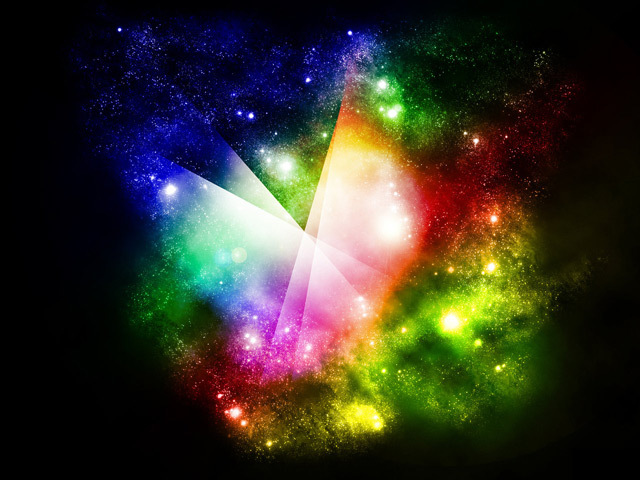 Starsfield Rainbow<br /> http://nithilien.deviantart.com/art/Starsfield-Rainbow-wallpaper-88081480