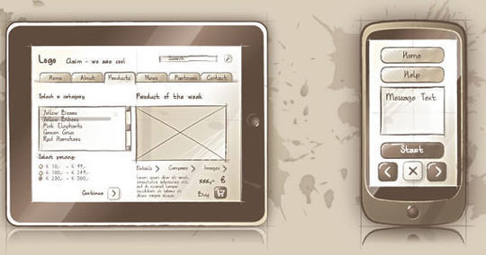 HTC HD2 Smartphone Vector<br /> http://www.eleqtriq.com/2010/08/sqetch-wireframe-toolkit/