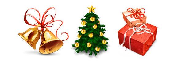 格化的矢量圣诞树<br /> http://www.zezu.org/vector-christmas-2011-design-elements/