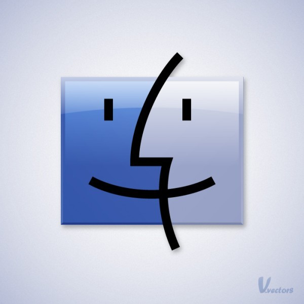 Create the Finder Icon<br /> http://vforvectors.com/create-the-mac-finder-logo/