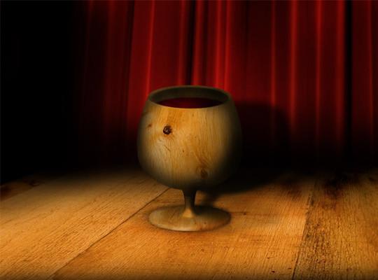 在photpshop中如何渲染一个木头杯子<br /> http://psd.tutsplus.com/tutorials/photo-effects-tutorials/how-to-render-a-dramatic-3d-wood-cup-in-photoshop/