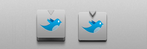 Cool 3D Tweet Button<br /> http://www.freebiepixels.com/resources/cool-3d-button/
