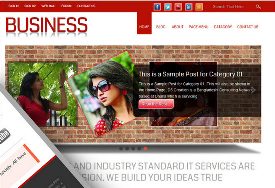 Small Business<br /> http://wordpress.org/extend/themes/small-business