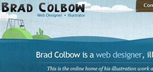 30个带有插画作品的网站头部