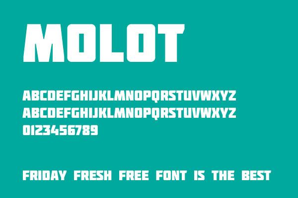 Molot<br /> http://www.fontsquirrel.com/fonts/Molot