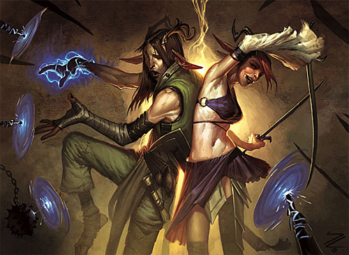 MtG Safehold Duo<br /> http://thedesigninspiration.com/illustrations/forest-spirit/