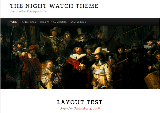 The Night Watch<br /> http://wordpress.org/extend/themes/the-night-watch