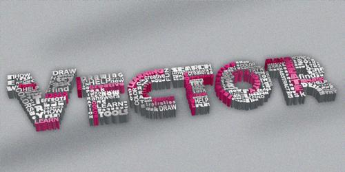 在Illustrator绘制复古效果的立体文字<br /> http://vector.tutsplus.com/tutorials/text-effects/quick-tip-how-to-use-typography-and-create-a-3d-text-effect/