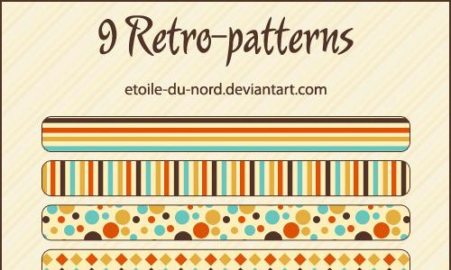 复古模式(3种模式)<br /> http://etoile-du-nord.deviantart.com/art/retro-patterns-186677103
